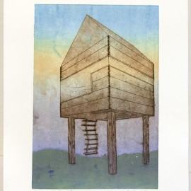 Course: Special Topics in 2D, Printmaking Processes- Final Project: etching and monoprint