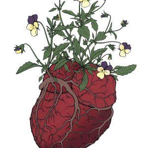 Tonja Torgerson, Heart's Ease, serigraphi
