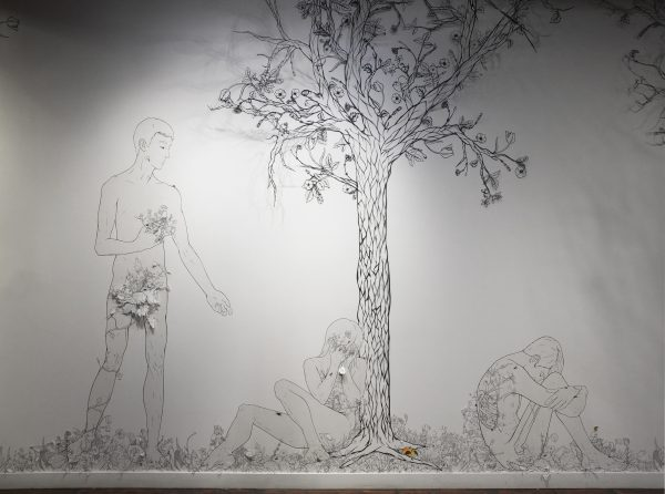 'Succumb' installation at the Cider Gallery